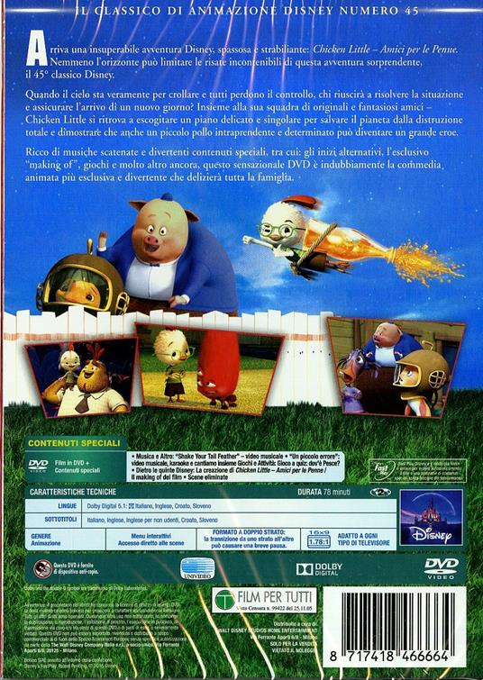 Chicken Little. Amici per le penne<span>.</span> Limited Edition di Mark Dindal - DVD - 2
