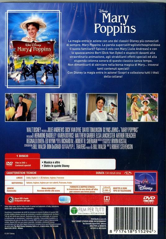 Mary Poppins. Limited Edition 2017 (DVD) di Robert Stevenson - DVD - 3