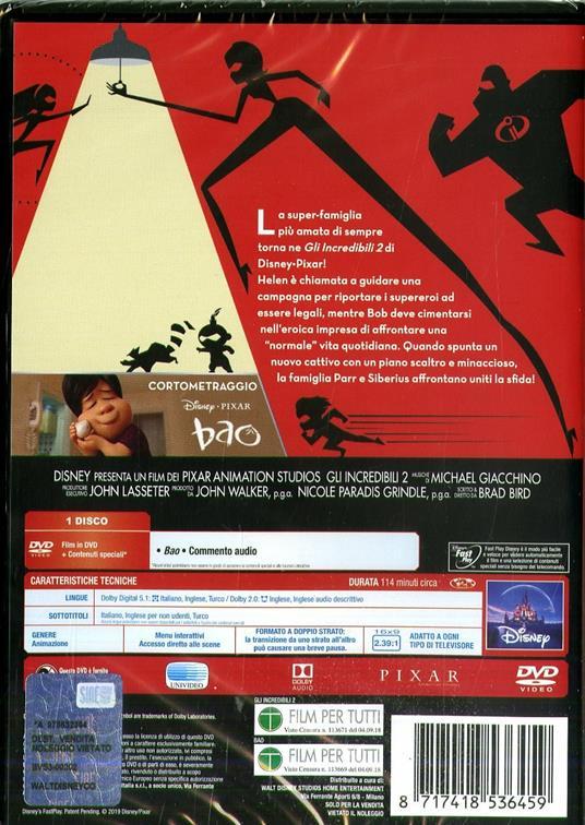 Gli Incredibili 2 (DVD) di Brad Bird - DVD - 2