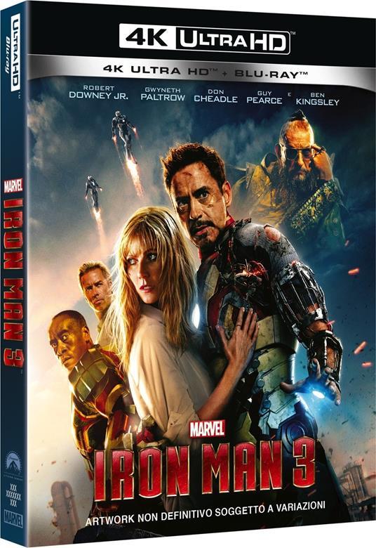 Iron Man 3 (Blu-ray + Blu-ray 4K Ultra HD) di Shane Black - Blu-ray + Blu-ray Ultra HD 4K