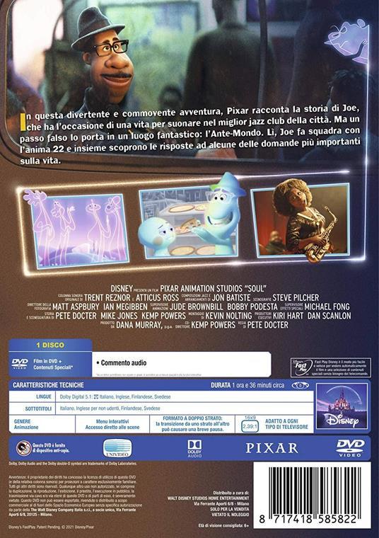 Soul (DVD) di Pete Docter - DVD - 2