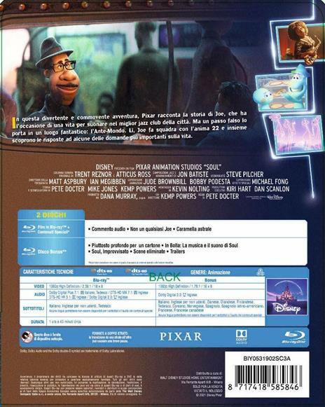 Soul. Con Steelbook (Blu-ray) di Pete Docter - Blu-ray - 2