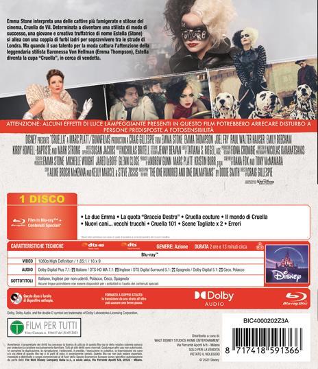 Crudelia (Blu-ray) di Craig Gillespie - Blu-ray - 3