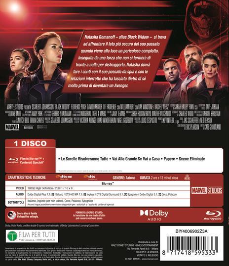 Black Widow (Blu-ray) di Cate Shortland - Blu-ray - 3