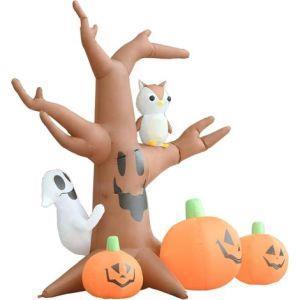 vidaXL Albero Fantasma Gonfiabile con Zucche per Halloween - 4