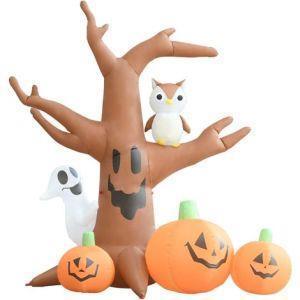 vidaXL Albero Fantasma Gonfiabile con Zucche per Halloween - 5
