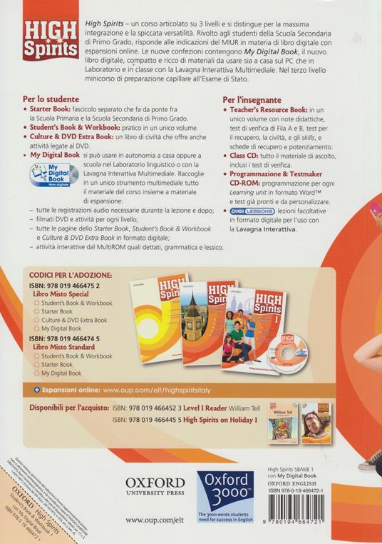 High spirits. Starter-Student's book-Workbook-My digital book-Extra book. Per la Scuola media. Con CD-ROM. Con espansione online -  Philippa Bowen, Denis Delaney - 2