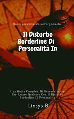 Il Disturbo Borderline Di Personalità In Chiaro