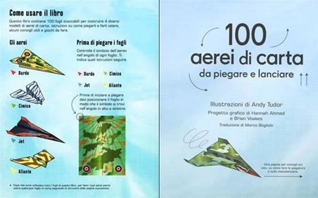 100 aerei di carta da piegare e lanciare. Ediz. illustrata - Hannah Ahmed,Brian Voakes - 2