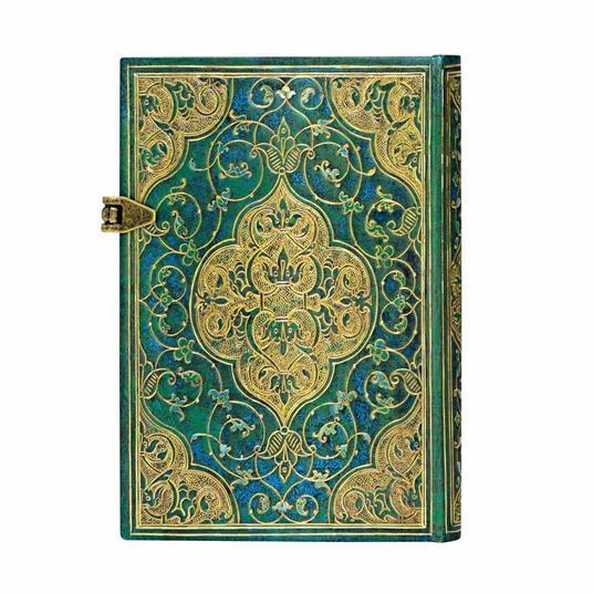 Taccuino Paperblanks copertina rigida Mini a righe Cronache turchesi - 9,5x14 - 4