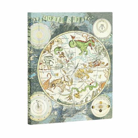 Taccuino Paperblanks copertina morbida Ultra a pagine bianche Planisfero Celeste - 18 x 23 cm - 3