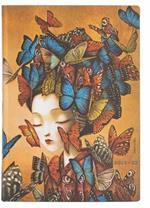 Agenda 2022 Paperblanks, 13 Mesi, Madame Butterfly, Midi, Giornaliera, Lo Spirito di Lacombe