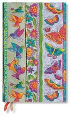 Agenda 2022 Paperblanks, 12 Mesi, Farfalle e Colibrì, Maxi, OR, Creazioni Giocose - 13,5 x 21 cm