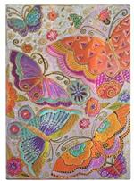 Agenda 2022 Paperblanks, 12 Mesi, Farfalle, Midi, VER, Creazioni Giocose - 13 x 18 cm