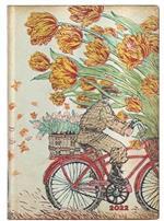 Agenda 2022 Paperblanks, 12 Mesi, Primavera Olandese, Midi, OR, Vivere con Yuko - 12,5 x 17,5 cm