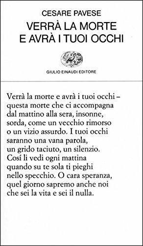 Verrà la morte e avrà i tuoi occhi - Cesare Pavese - copertina