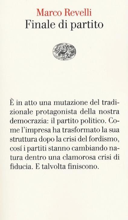 Finale di partito - Marco Revelli - copertina