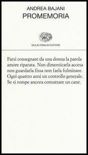 Promemoria - Andrea Bajani - copertina