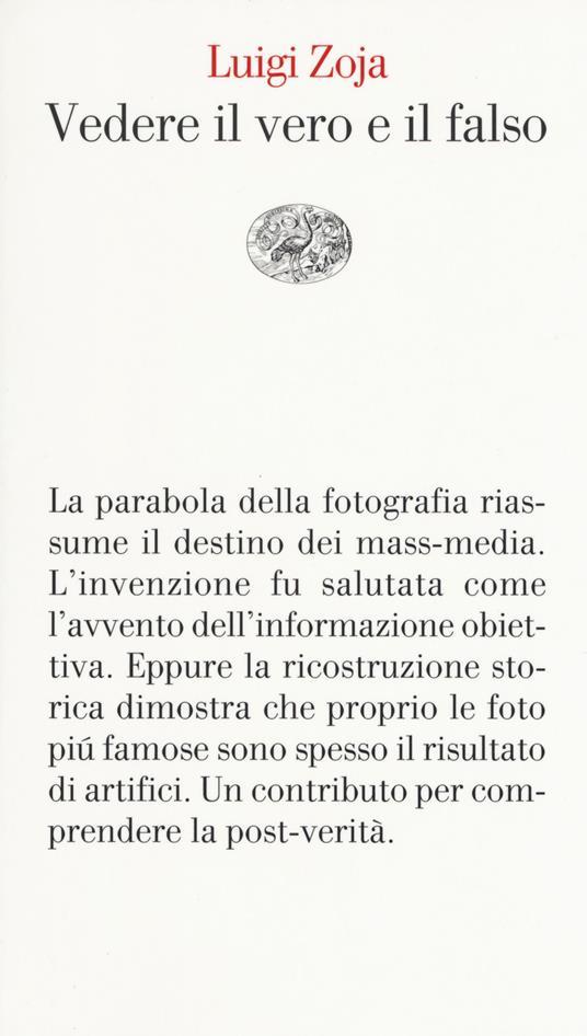 Vedere il vero e il falso - Luigi Zoja - copertina