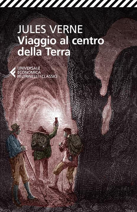 Viaggio al centro della Terra - Jules Verne - copertina