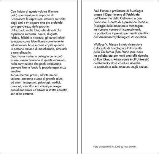 Giù la maschera. Come riconoscere le emozioni dall'espressione del viso - Paul Ekman,Wallace V. Friesen - 2