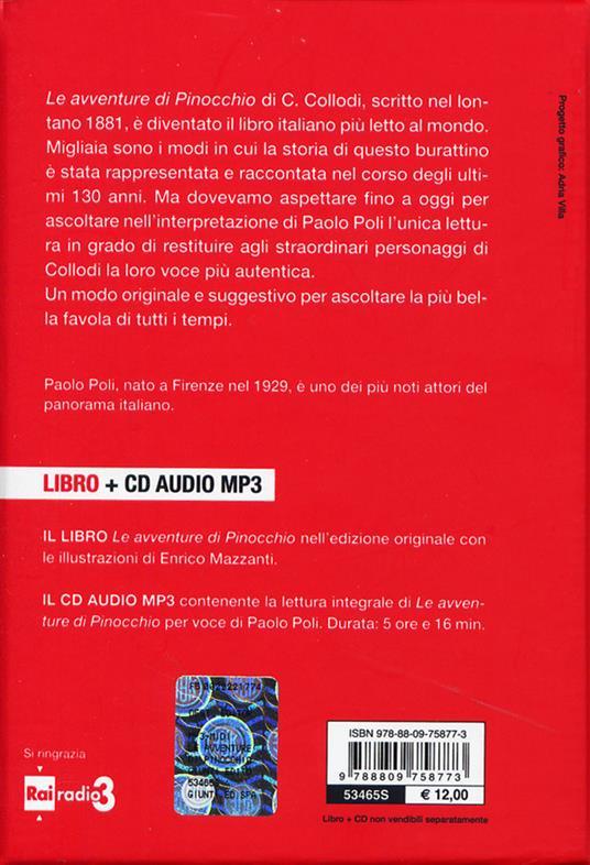 Le avventure di Pinocchio. Storia di un burattino letto da Paolo Poli. Con CD Audio formato MP3 - Carlo Collodi - 4