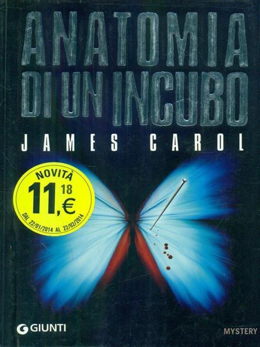 Anatomia di un incubo - James Carol - copertina