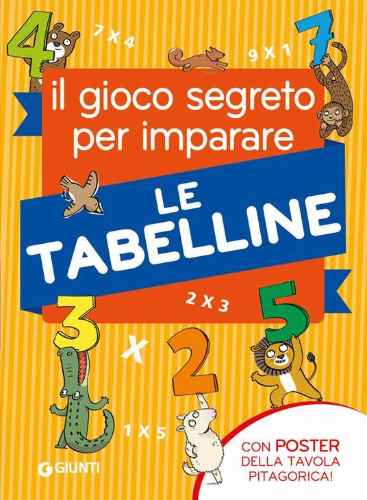 Il gioco segreto per imparare le tabelline. Con Poster - Pietro Sacchelli - copertina