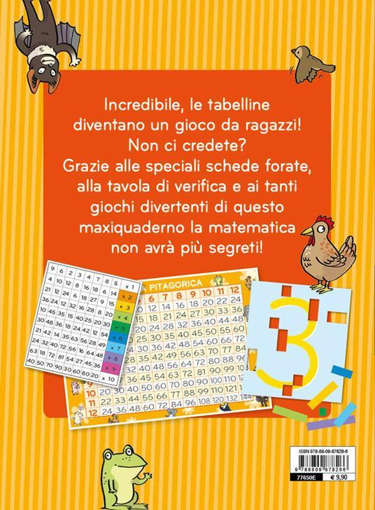 Il gioco segreto per imparare le tabelline. Con Poster - Pietro Sacchelli - 2