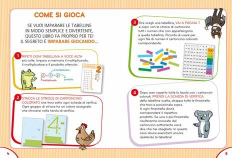 Il gioco segreto per imparare le tabelline. Con Poster - Pietro Sacchelli - 5