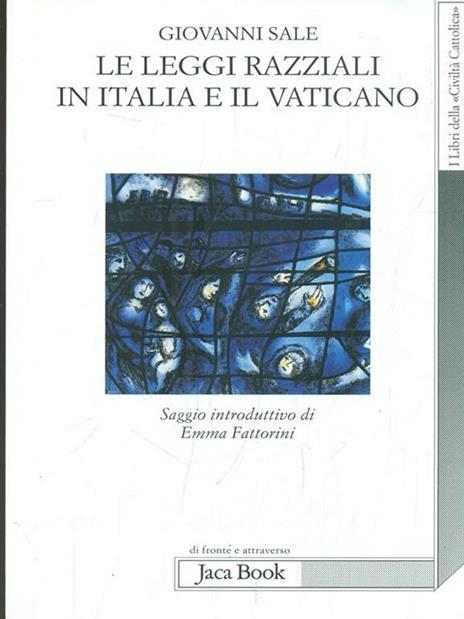 Le leggi razziali in Italia e il Vaticano - Giovanni Sale - copertina