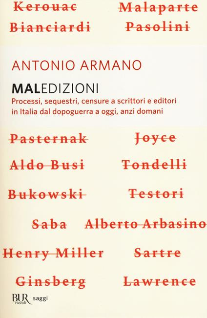 Maledizioni. Processi, sequestri, censure a scrittori e editori in Italia dal dopoguerra a oggi, anzi a domani - Antonio Armano - copertina