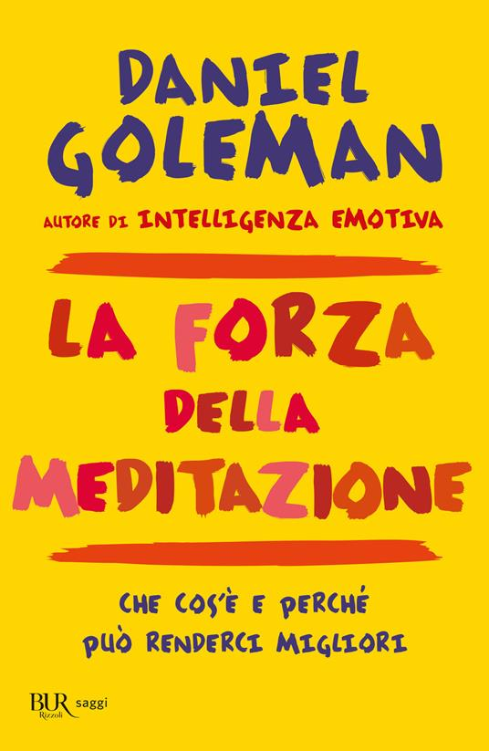La forza della meditazione - Daniel Goleman - copertina