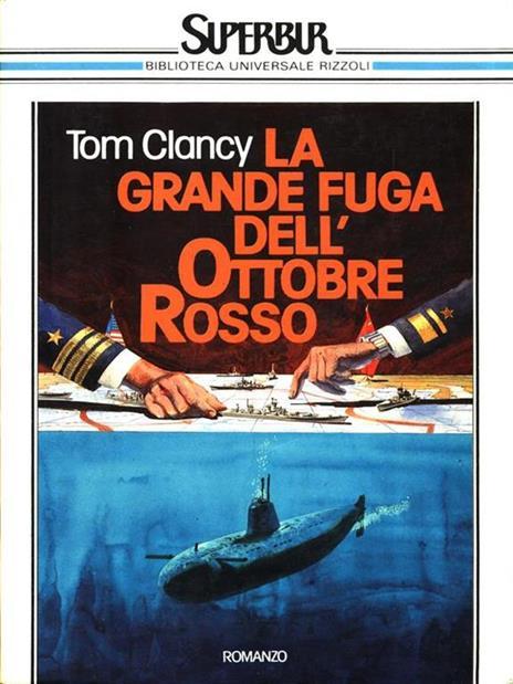 Caccia a Ottobre Rosso - Tom Clancy - copertina