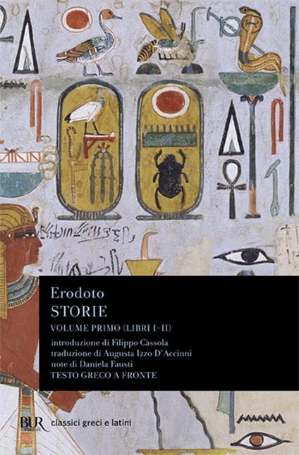 Storie. Testo greco a fronte. Vol. 1: Libri 1º-2º. - Erodoto - copertina