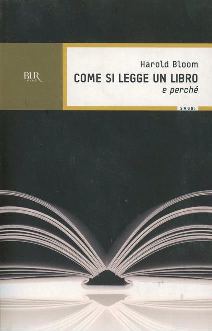 Come si legge un libro (e perché) - Harold Bloom - copertina