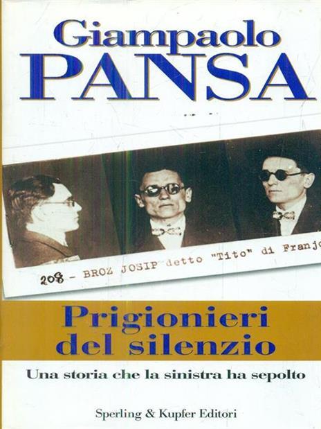 Prigionieri del silenzio - Giampaolo Pansa - copertina