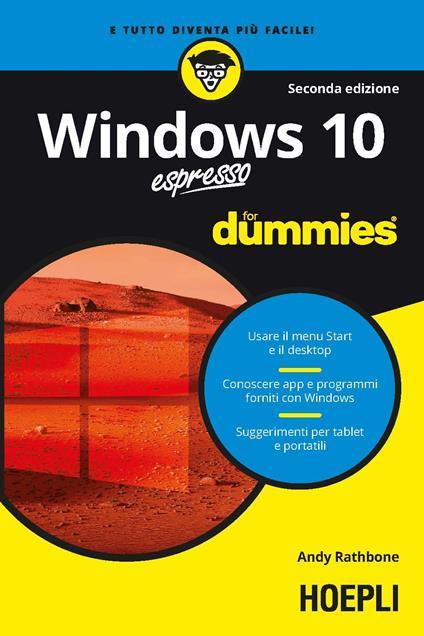 Windows 10 espresso For Dummies - Andy Rathbone - copertina