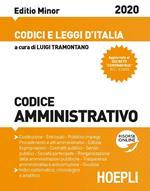 Codice amministrativo 2020. Ediz. minore