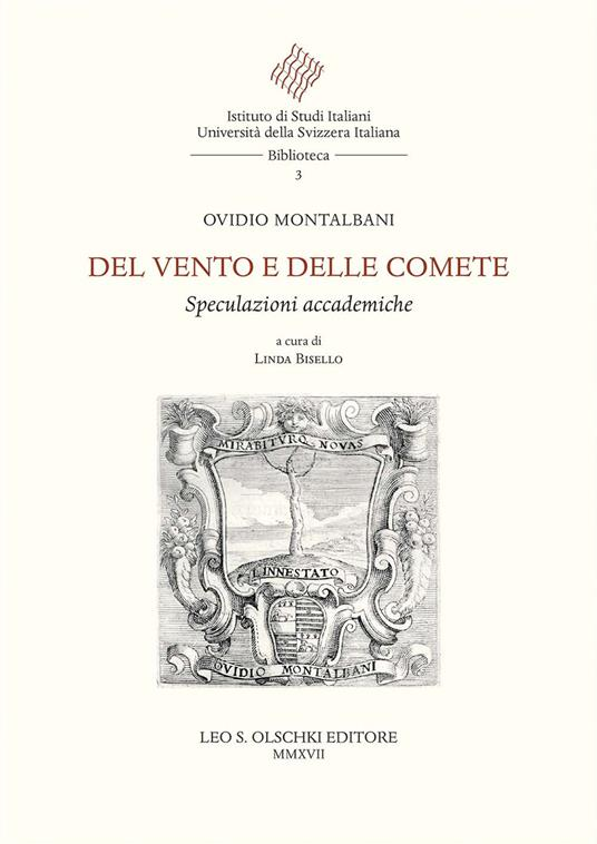 Del vento e delle comete. Speculazioni accademiche - Ovidio Montalbani - copertina