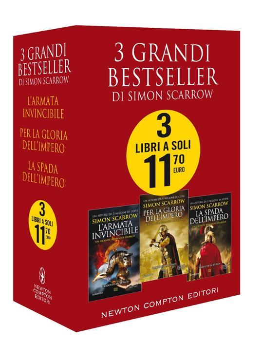 3 grandi bestseller di Simon Scarrow: L'armata invincibile-Per la gloria dell'impero-La spada dell'impero - Simon Scarrow - copertina