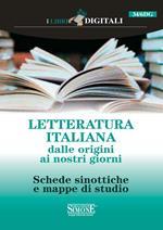 Letteratura italiana. Dalle origini ai nostri giorni