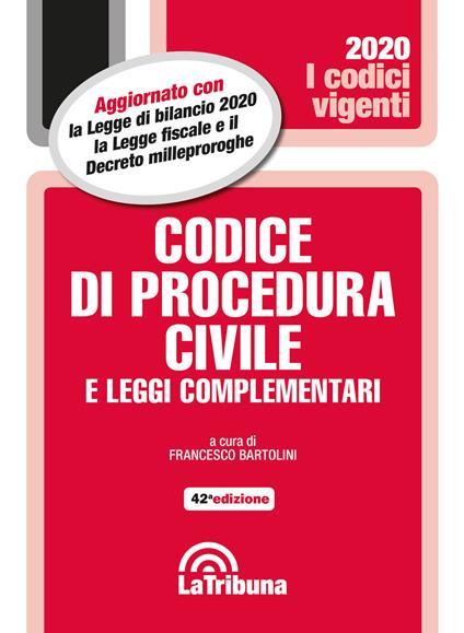 Codice di procedura civile e leggi complementari - copertina