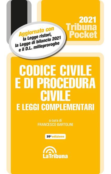 Codice civile e di procedura civile e leggi complementari 2021 - copertina