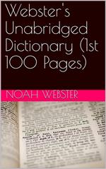 Webster's Unabridged Dictionary (1st 100 Pages)