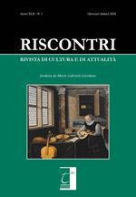 Riscontri. Rivista di cultura e di attualità (2020). Vol. 1: Gennaio-Aprile.