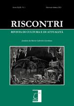 Riscontri. Rivista di cultura e di attualità (2021). Vol. 1: Gennaio-aprile.
