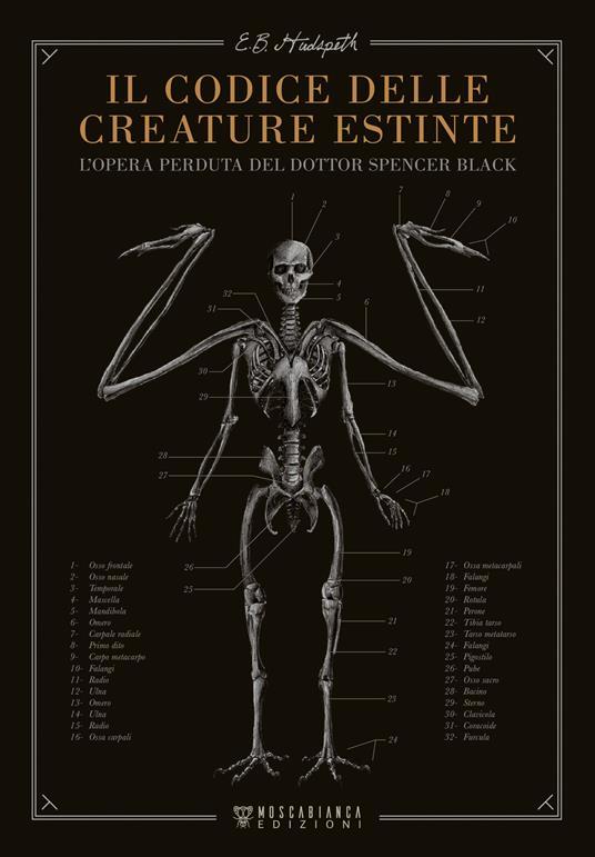 Il codice delle creature estinte. L'opera perduta del dottor Spencer Black - E.B. Hudspeth - copertina