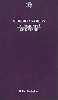 La comunità che viene - Giorgio Agamben - copertina