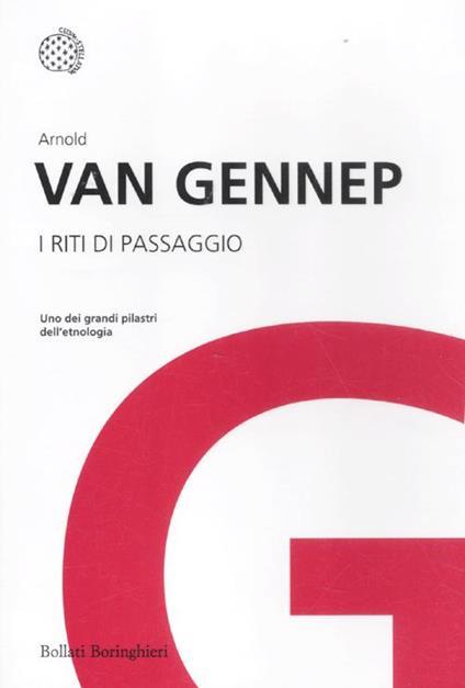 I riti di passaggio - Arnold Van Gennep - copertina